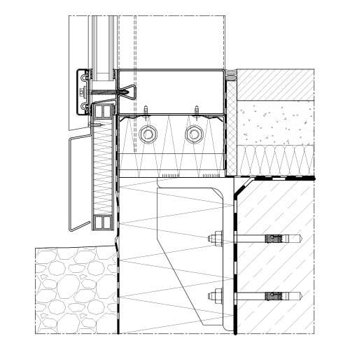 Pfosten Riegel System Schraubrohr Stabalux Sr