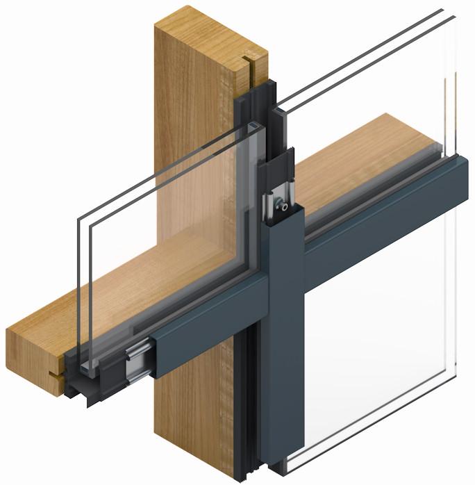Pfosten Riegel Fassade Holz Alu Stabalux