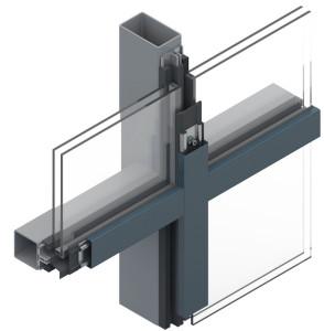 Pfosten-Riegel Konstruktion Aufsatzkanal