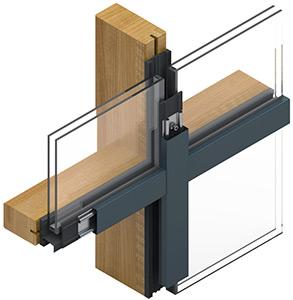 Pfosten-Riegel Konstruktion Direktverschraubung