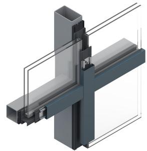 Pfosten-Riegel Konstruktion Zwischenleiste