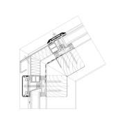 Dachanschluss Ausführung mit durchgeführten Deckleisten