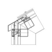 Dachanschluss Ausführung mit Stufenglas