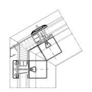 Glasdachanschluss Ausführung mit durchgeführten Deckleisten