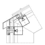 Glasdachanschluss Ausführung mit Stufenglas