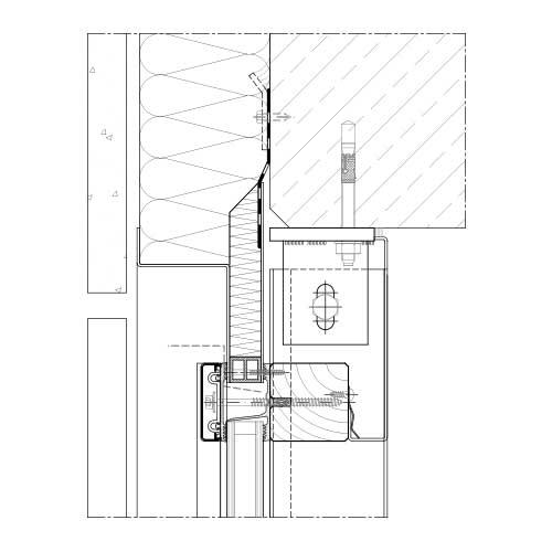Tür detail anschluss  Pfosten-Riegel System | STABALUX H