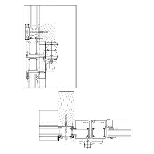 Türanschluss detail außentür  Pfosten-Riegel System | STABALUX H