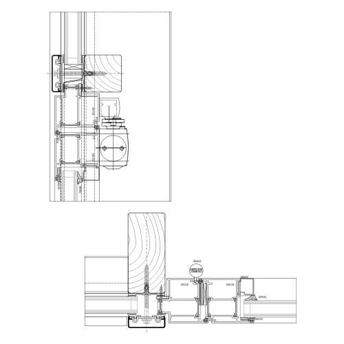 Eingangstür detail dwg  Pfosten-Riegel System | STABALUX H