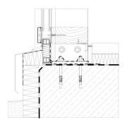 Mittelpfosten auf Bodenplatte (Riegelfahne durchlaufend)