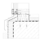 Fusspunkt Befestigung Mittelpfosten auf Bodenplatte (Riegelfahne ausgeklinkt)