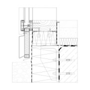 Befestigung Mittelpfosten auf Bodenplatte (Riegelfahne durchlaufend)