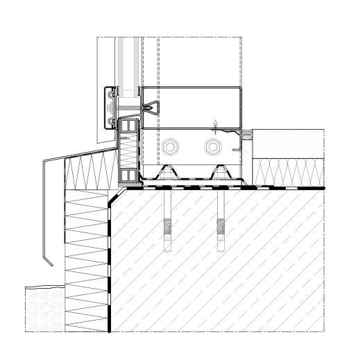 Glasfassade detail bodenanschluss  Pfosten-Riegel System | Schraubrohr | STABALUX SR
