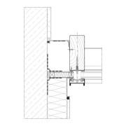 Horizontaler Wandanschluss an Wärmedämmverbundsystem