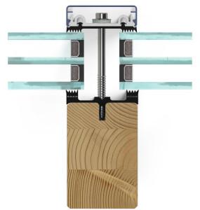 Querschnitt Pfosten Direktverschraubung Holz