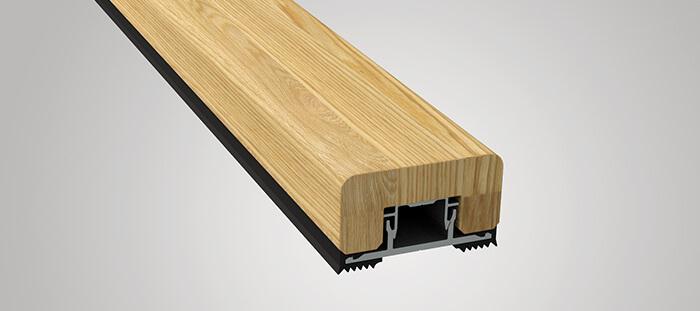 Holzdeckleiste